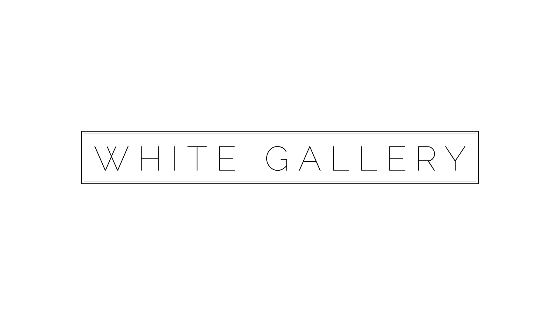 White Gallery logo by Dustin Drake