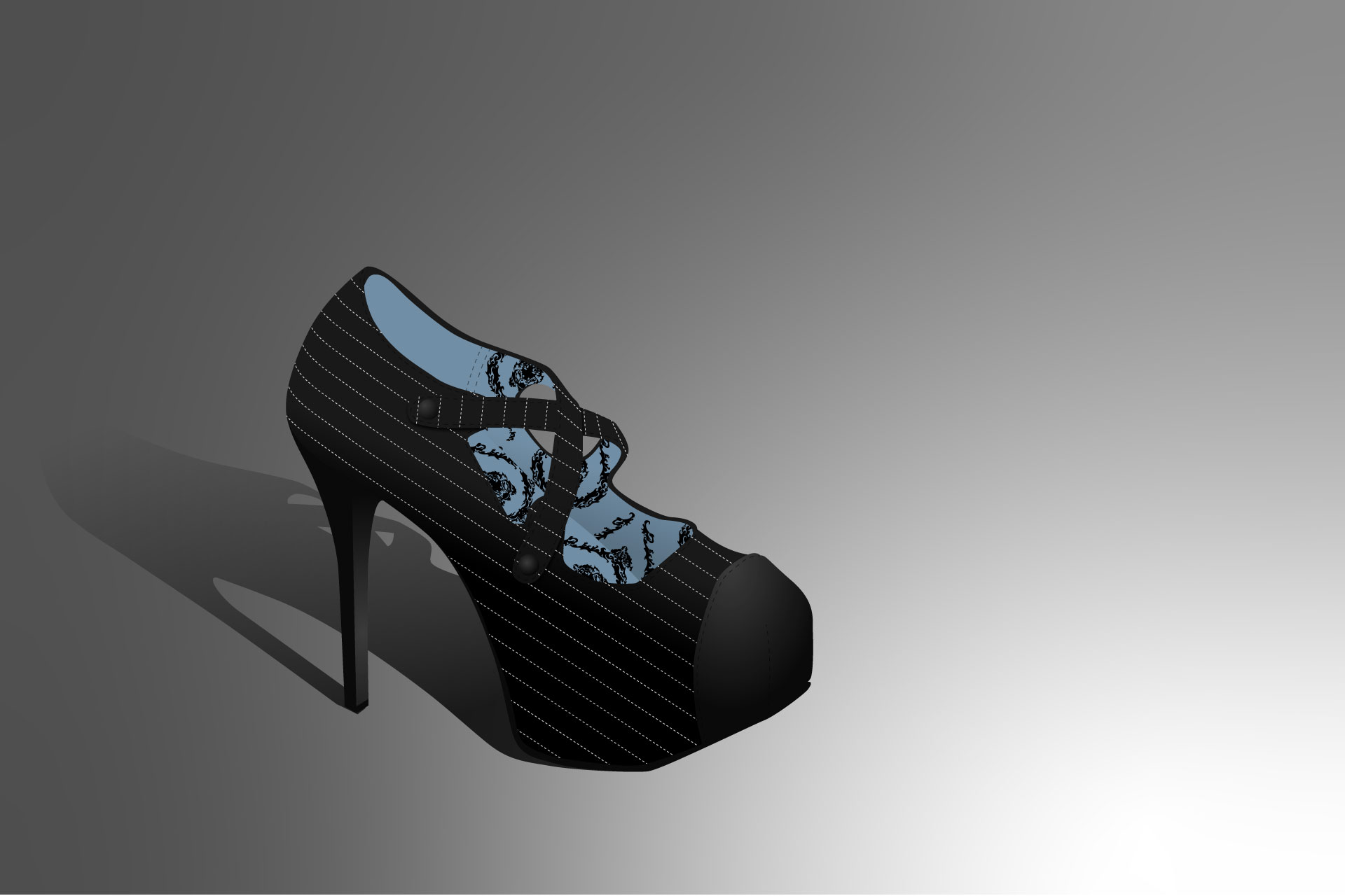 Vector illustration of a high heel by Dustin Drake