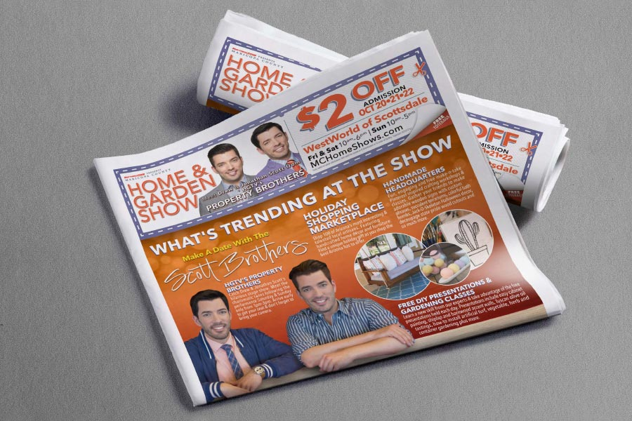 Maricopa County Home Show newspaper ad by Dustin Drake
