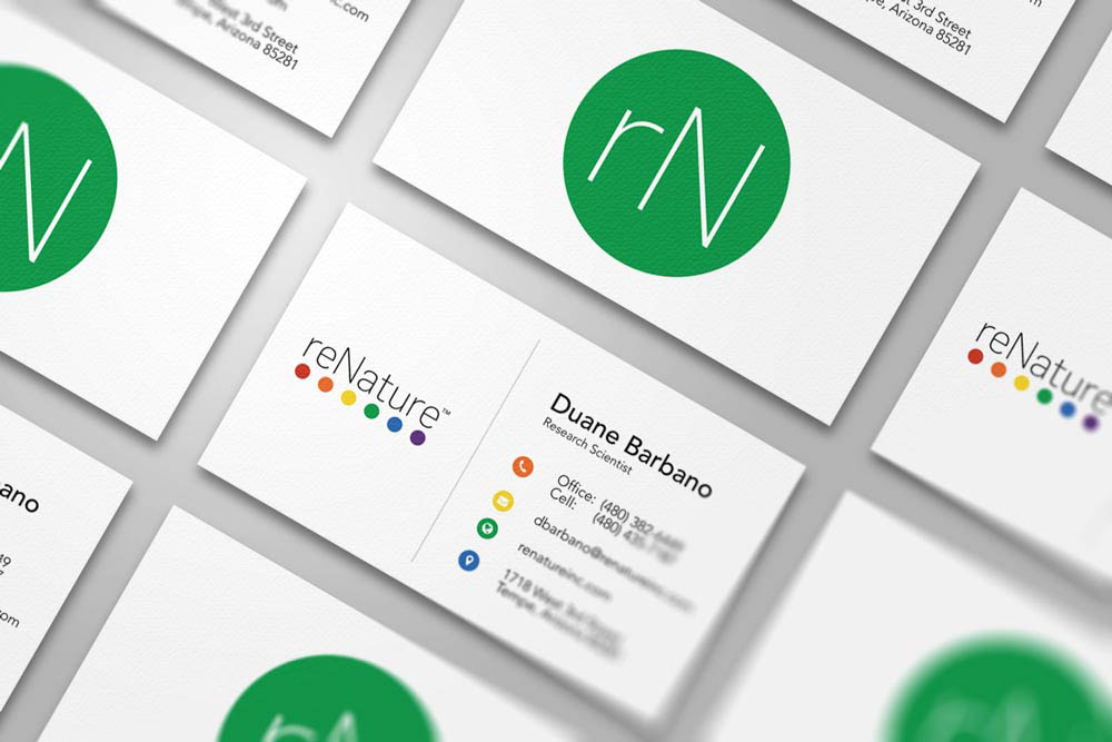 reNature Business Cards by Dustin Drake